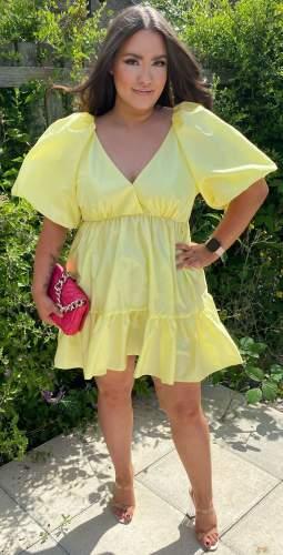 Delfi Collective Yellow Rebecca Mini Dress