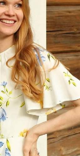 French Connection Summer White Emina Drape Dress