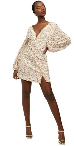 Bardot Paisley Printed Broderie Mini Dress