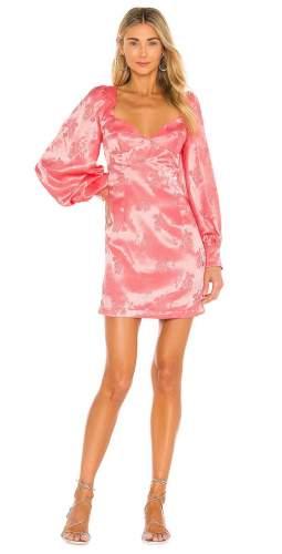 Bardot Watermelon Balloon Sleeve Mini Dress