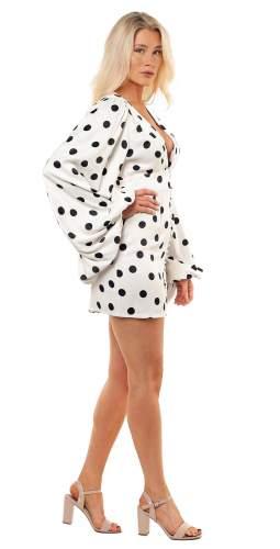 Rat & Boa Petite Perla Polka Dot Mini Dress